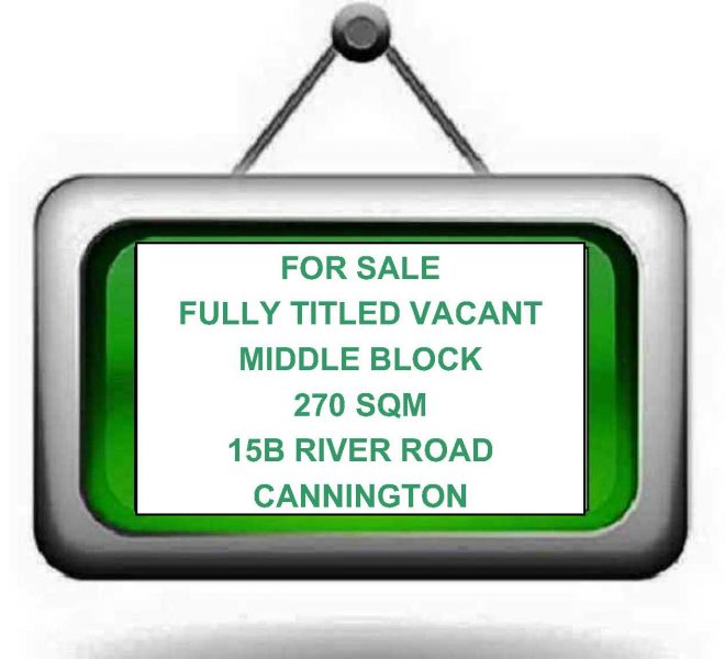 Vacant Land sign for websites (15B River Rd, Cannington)